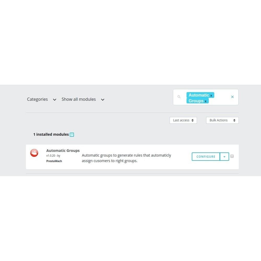 module - Zarządzanie klientami - AutomaticGroups - 6