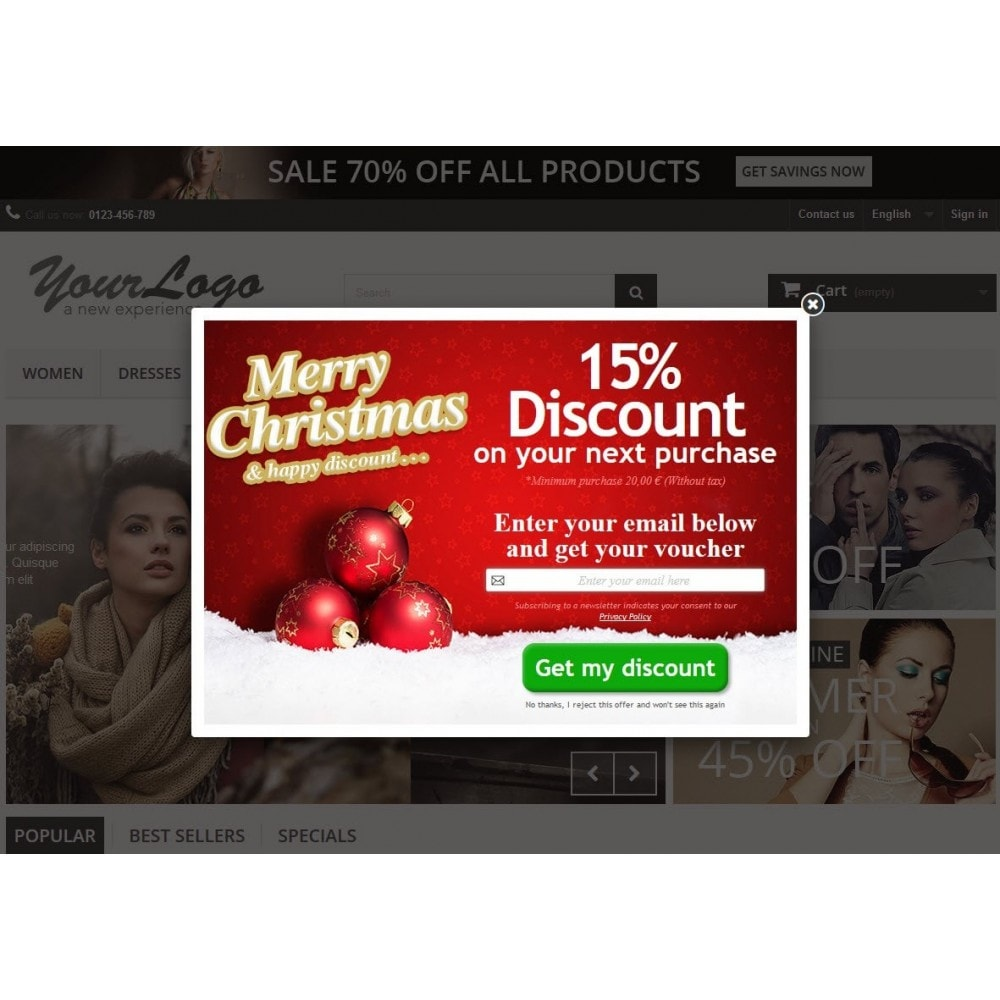 module - Pop-up - Email Leads Collector Popup with Discount Coupon - 7