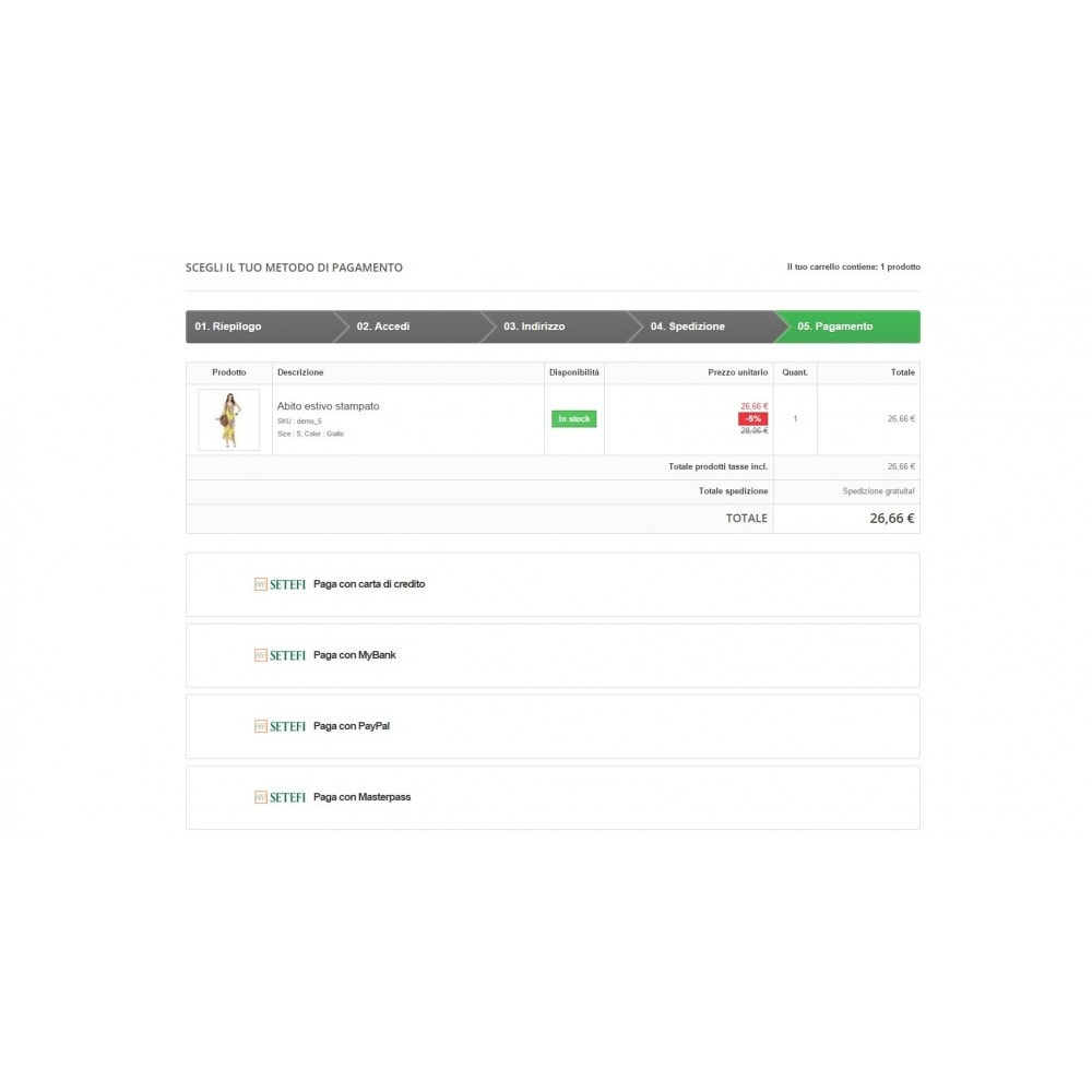 module - Pagamento con Carta di Credito o Wallet - POS Setefi di Intesa Sanpaolo Avanzato Monetaweb - 3