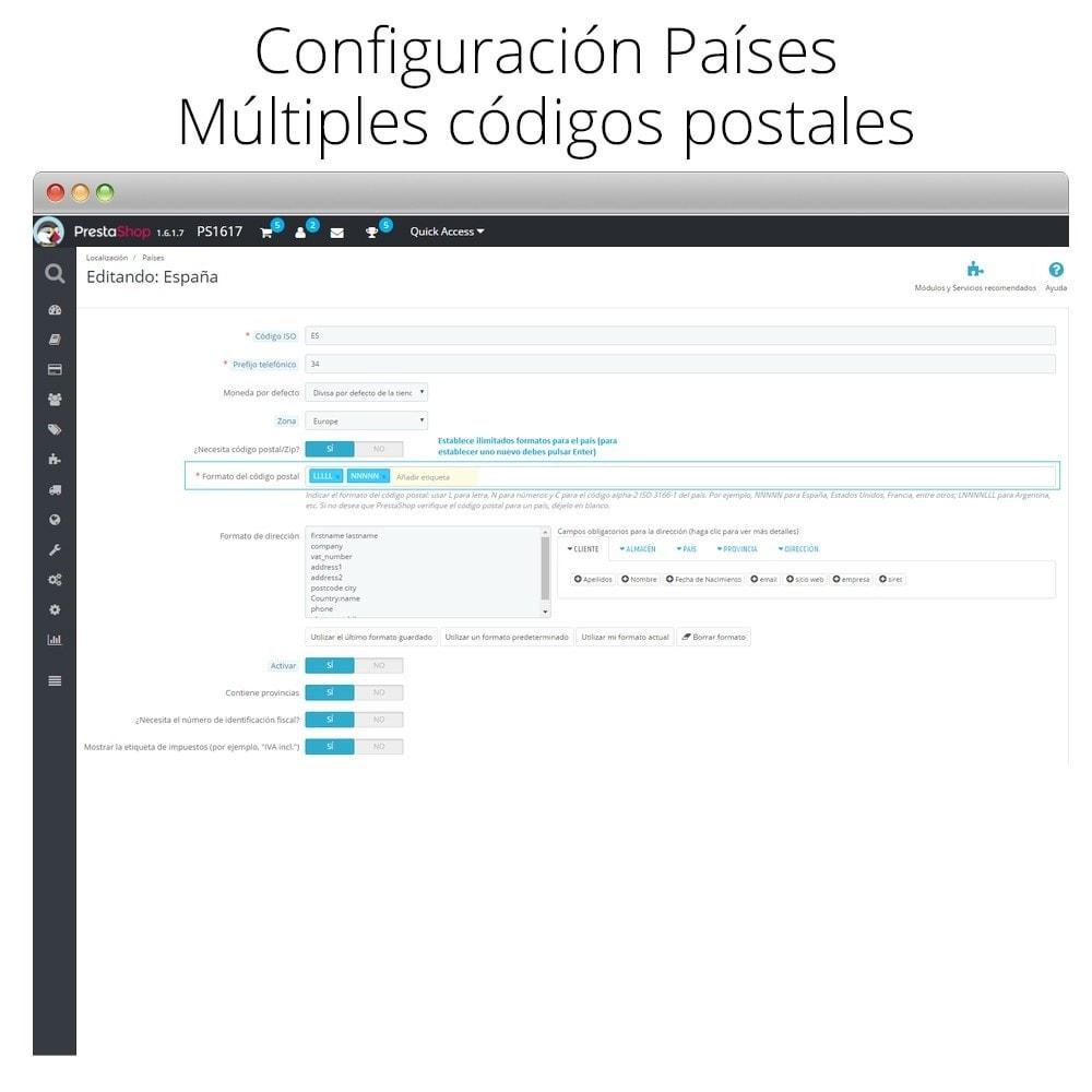 module - Preparación y Envíos - Códigos postales múltiples - 2