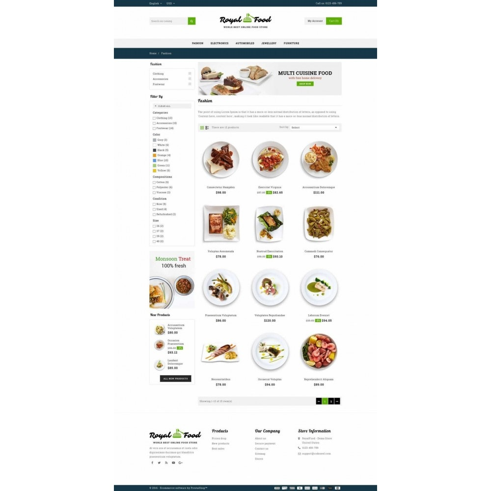theme - Alimentos & Restaurantes - Food and Restaurant Store - 3