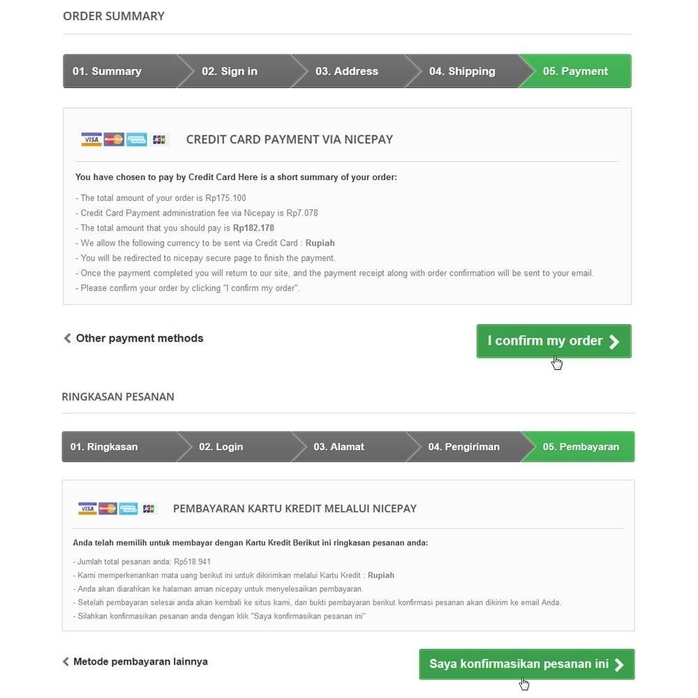 module - Pagamento con Carta di Credito o Wallet - Nicepay - 11