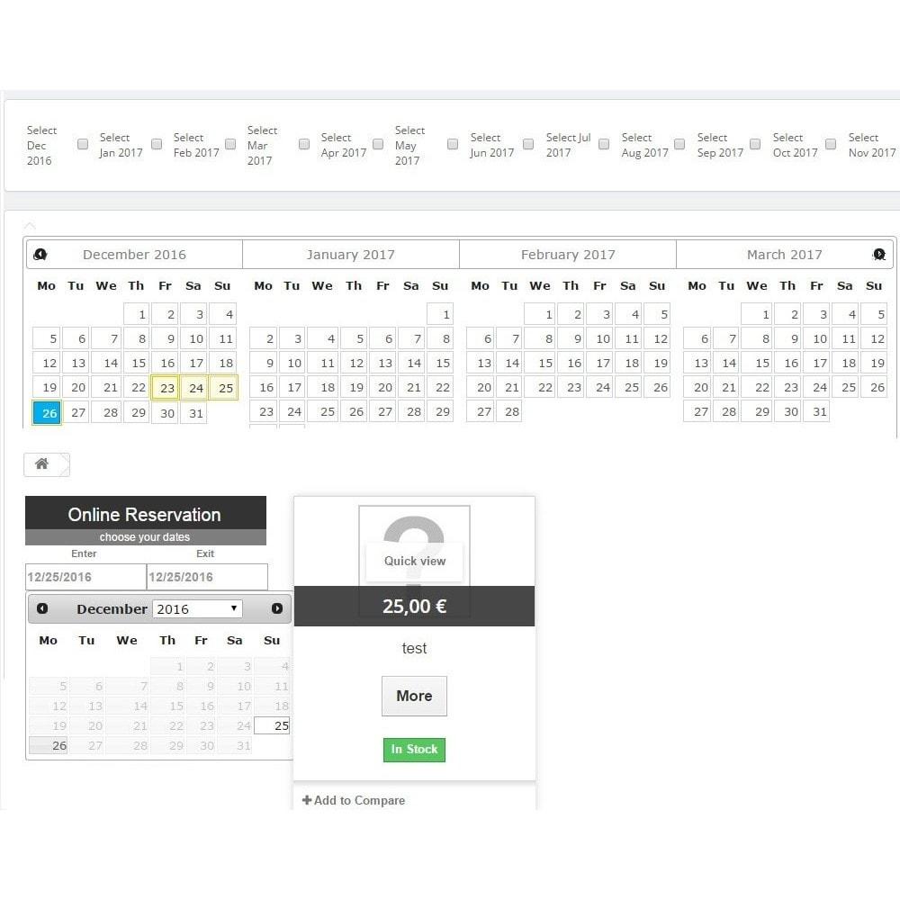 module - Verhuur en reserveringen - Booking Calendar - 2