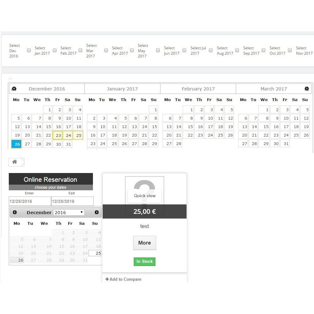 module - Web de Reservas y Alquiler - Booking Calendar - 2