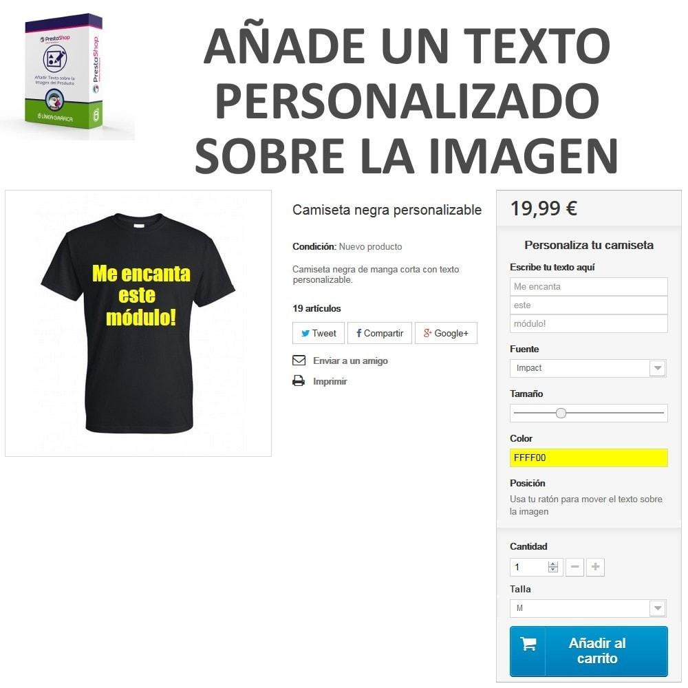 module - Combinaciones y Personalización de productos - Personalización Producto - Añadir Texto sobre Imagen - 2