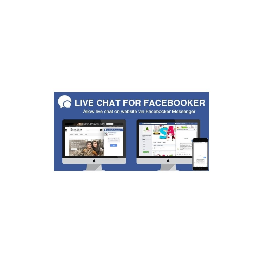 module - Supporto & Chat online - Live Chat - Real time Support with Your Social Account - 1