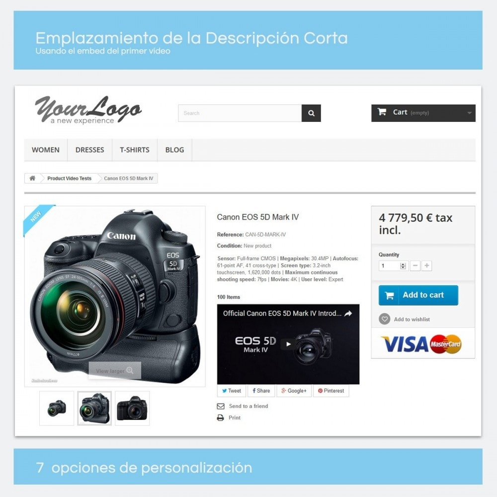 module - Vídeos y Música - Videos para Productos - Youtube, Vimeo... - 3