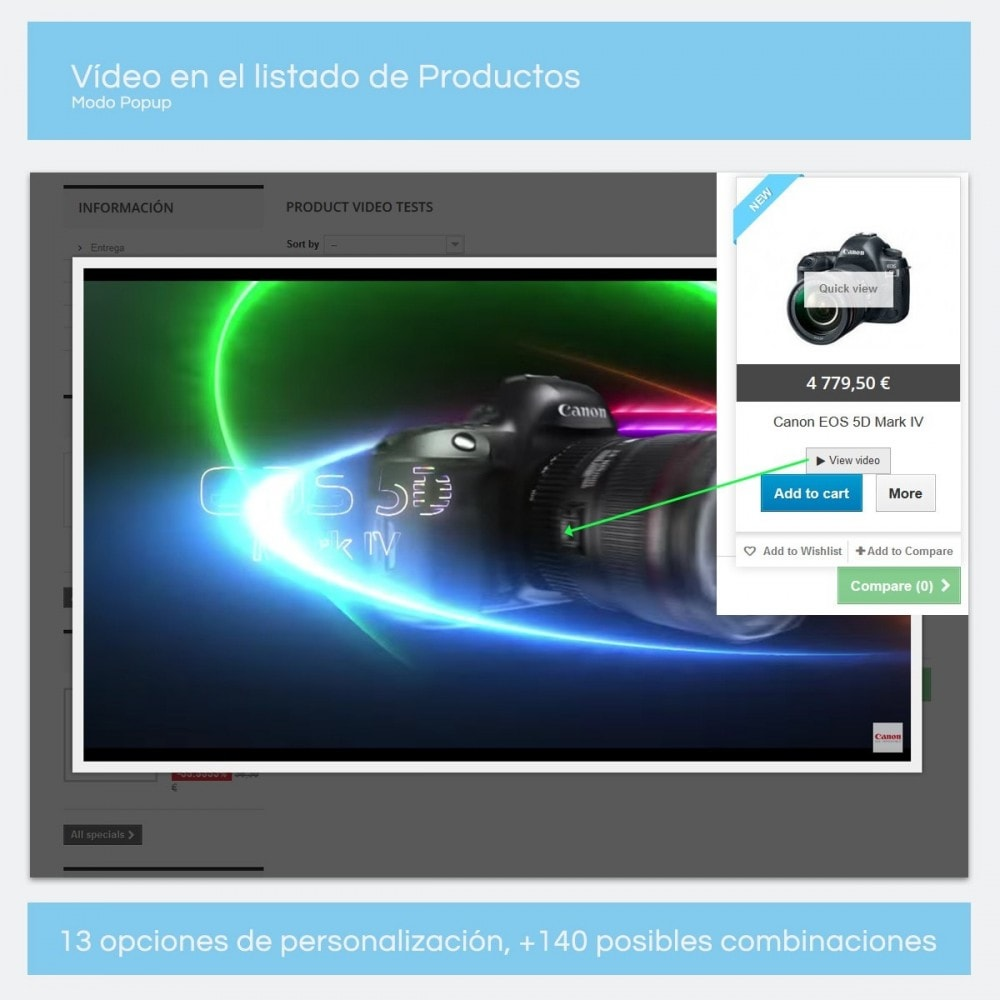 module - Vídeos y Música - Videos para Productos - Youtube, Vimeo... - 8