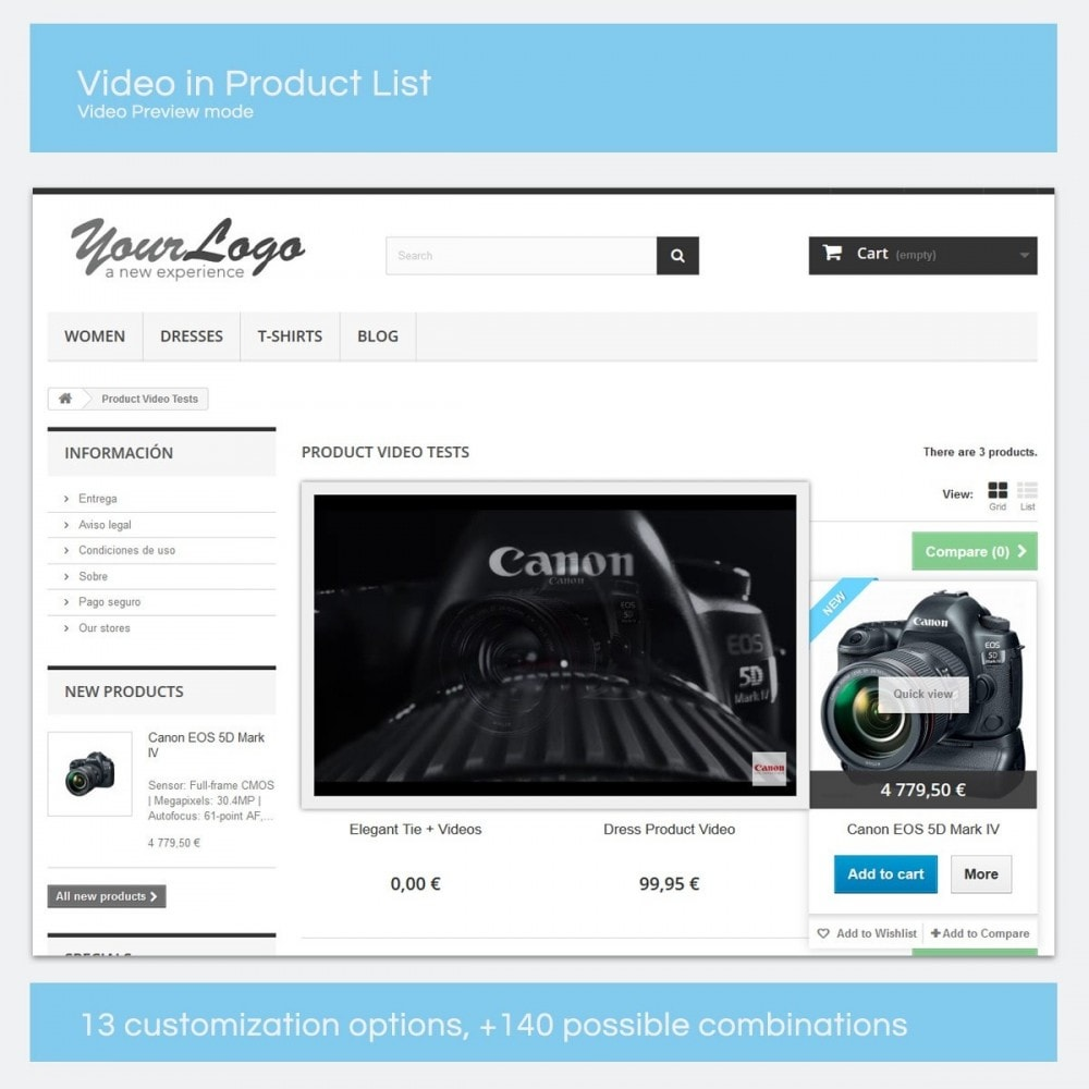 module - Video & Musica - Video di prodotti- YouTube, Vimeo... - 8