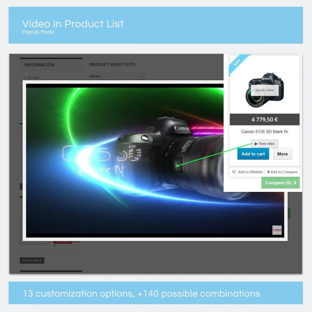 module - Videos & Music - Product Videos - Youtube, Vimeo... - 9