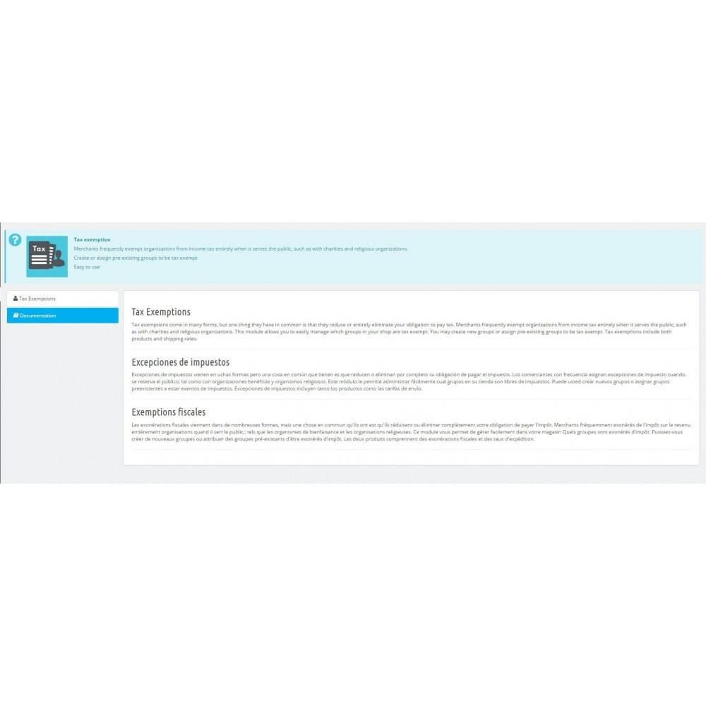 module - Zarządzanie cenami - Tax Exemption - 2