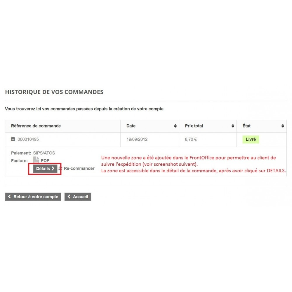 module - Rastreamento da entrega - Shipping tracking Colissimo / Chronopost / MondialRelay - 2