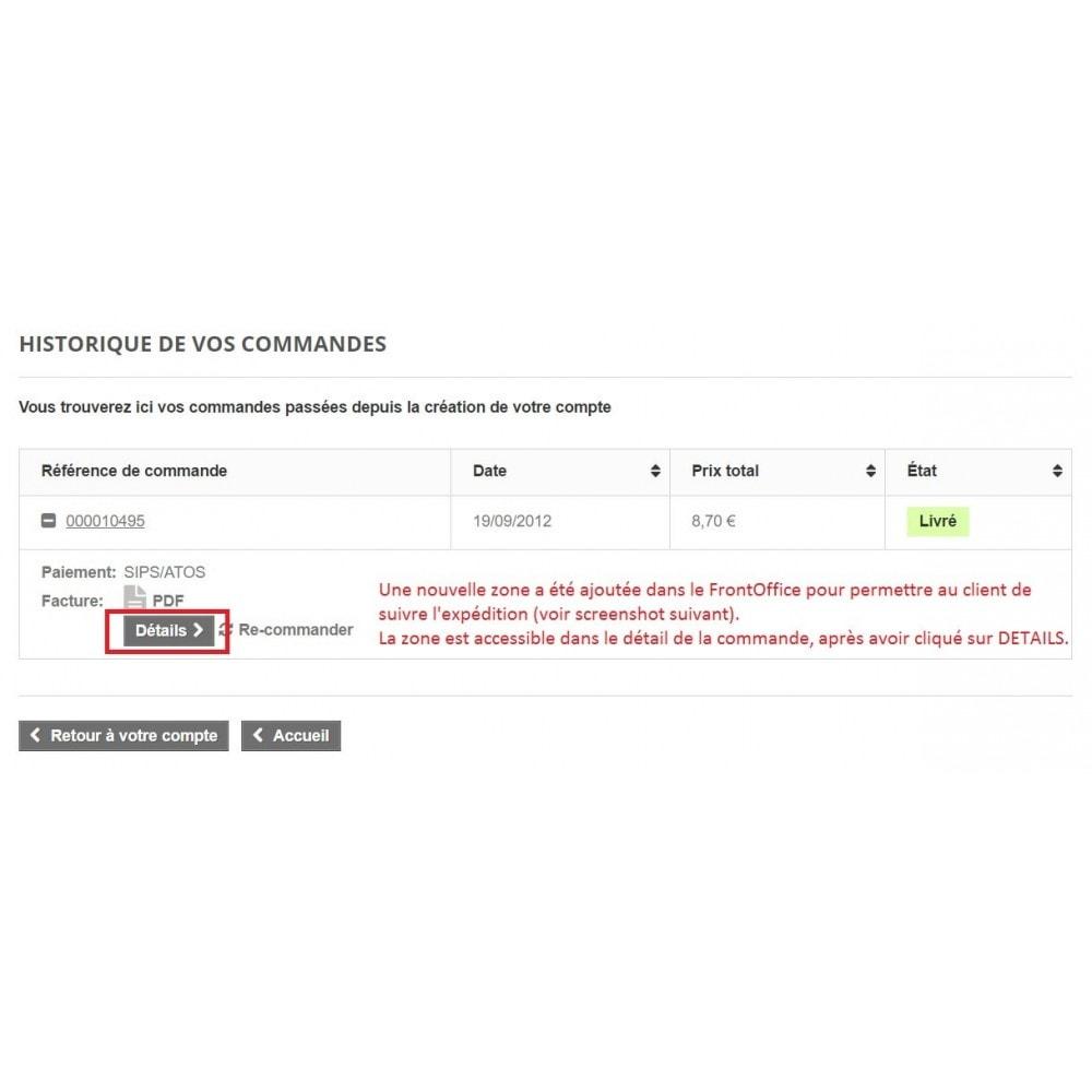 module - Sendungsverfolgung - Shipping tracking Colissimo / Chronopost / MondialRelay - 2