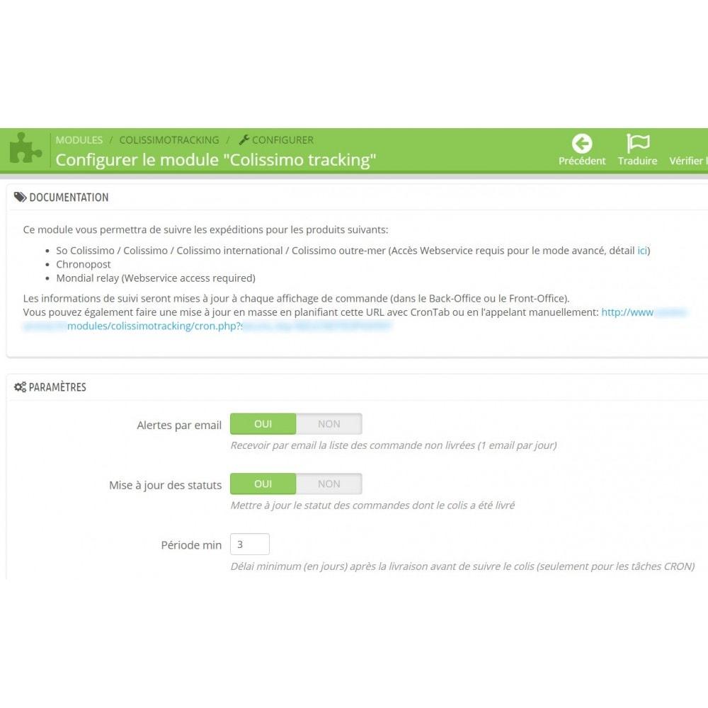 module - Suivi de livraison - Suivi livraisons Colissimo / Chronopost / Mondial Relay - 4