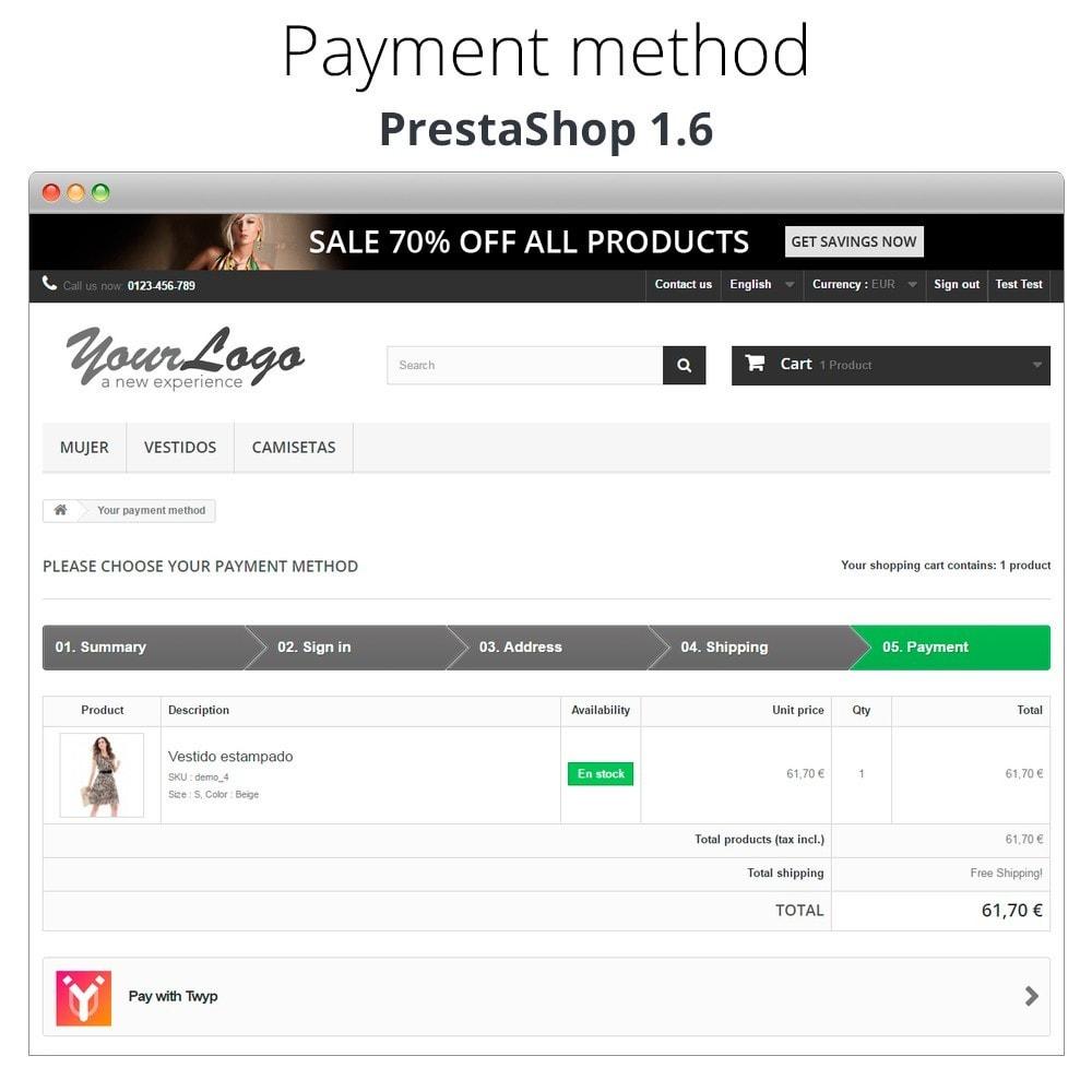 module - Inne środki płatności - Twyp - Mobile payment - 8
