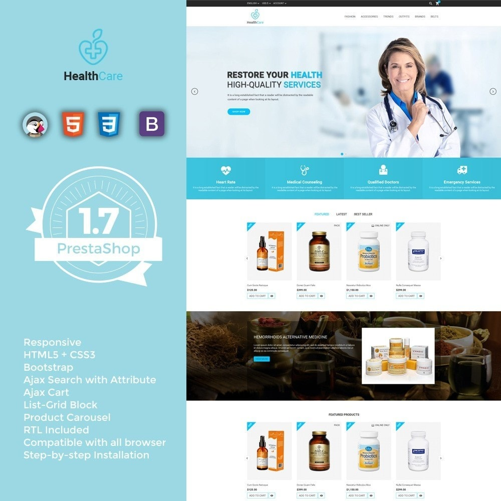 theme - Salute & Bellezza - Health Care Store - 1