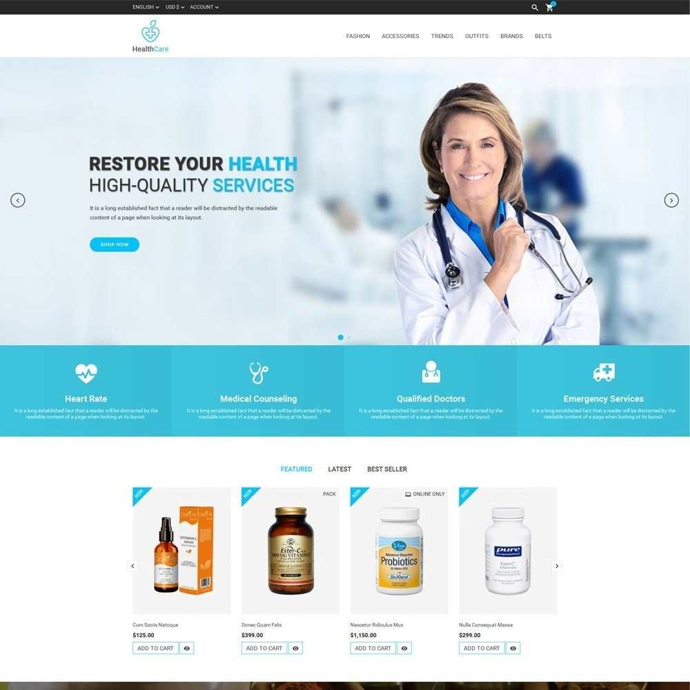 theme - Salute & Bellezza - Health Care Store - 2
