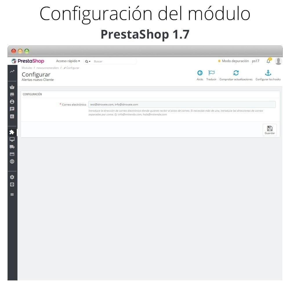 module - E-mails y Notificaciones - Recibe correo electrónico cuando un cliente se registra - 2