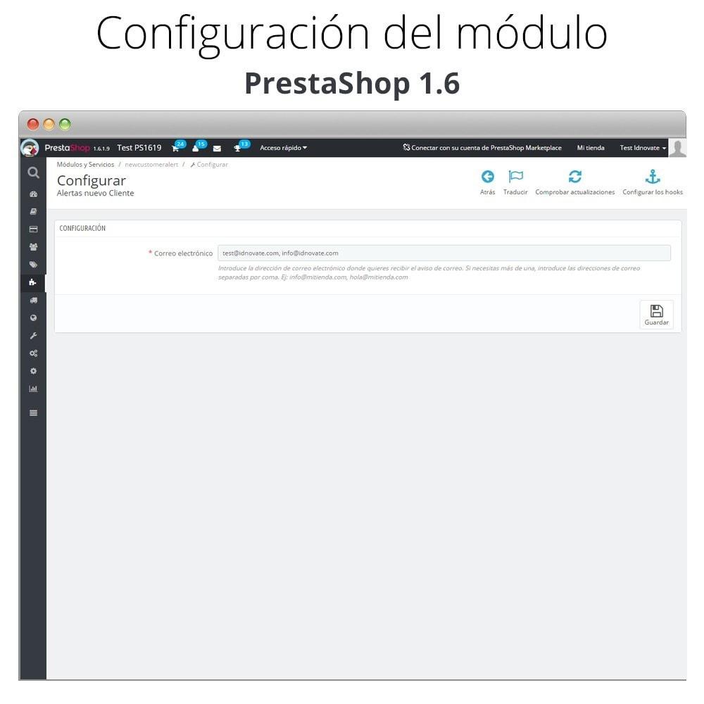 module - E-mails y Notificaciones - Aviso de correo con nuevos clientes - 4