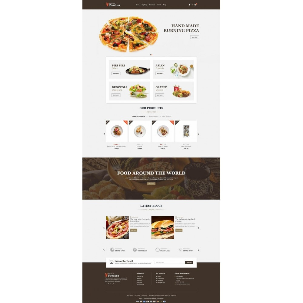 theme - Food & Restaurant - Foodusa Store - 2
