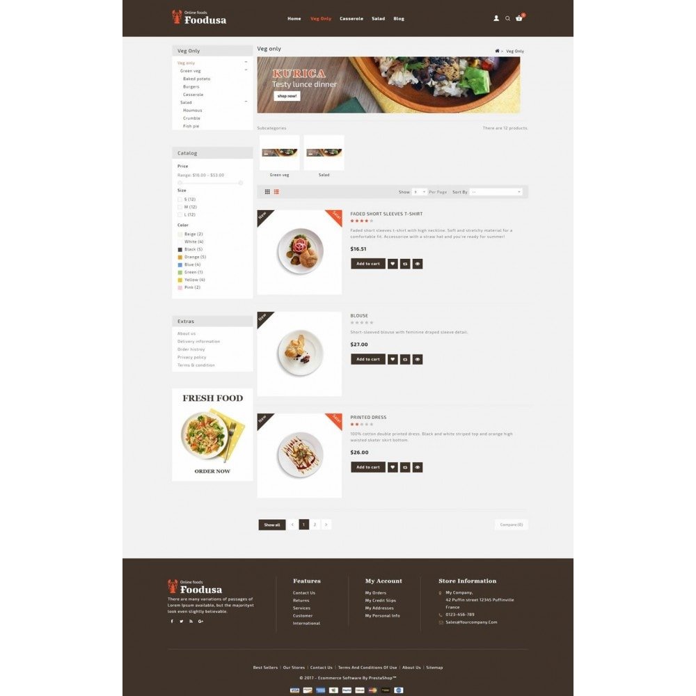 theme - Food & Restaurant - Foodusa Store - 4