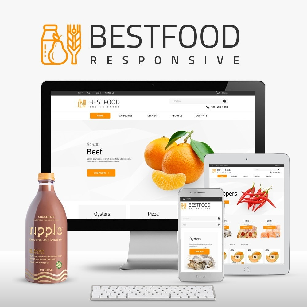 theme - Продовольствие и рестораны - Best Food - Online Market - 1