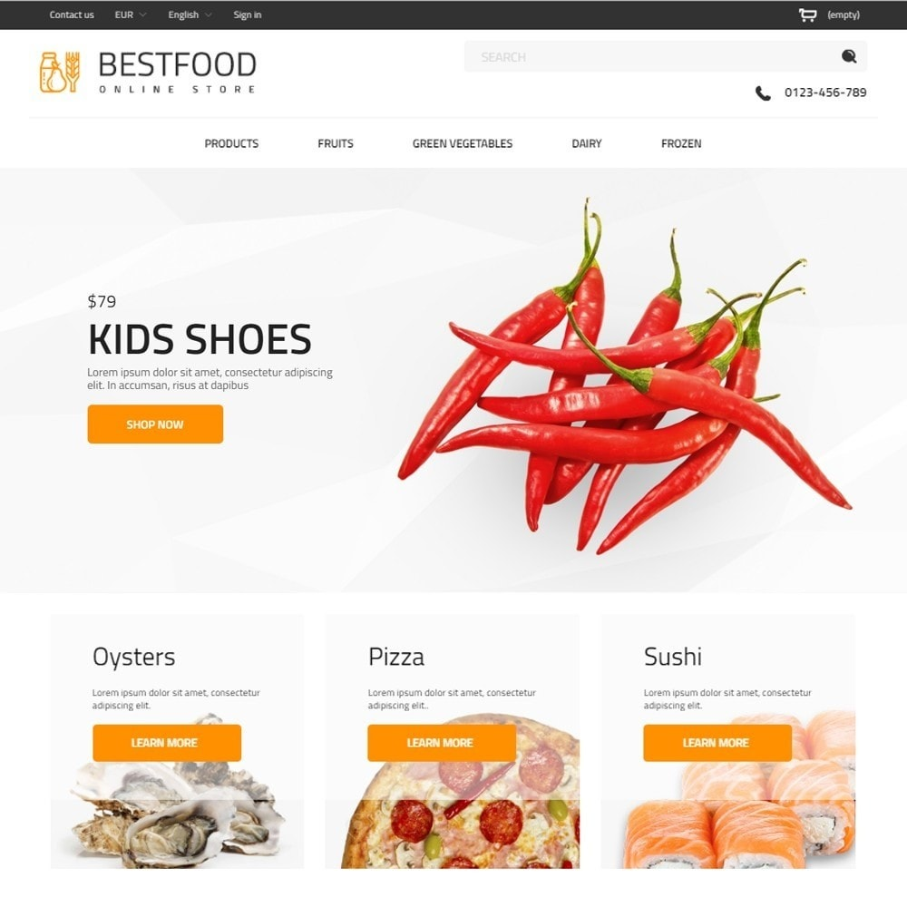 theme - Продовольствие и рестораны - Best Food - Online Market - 2