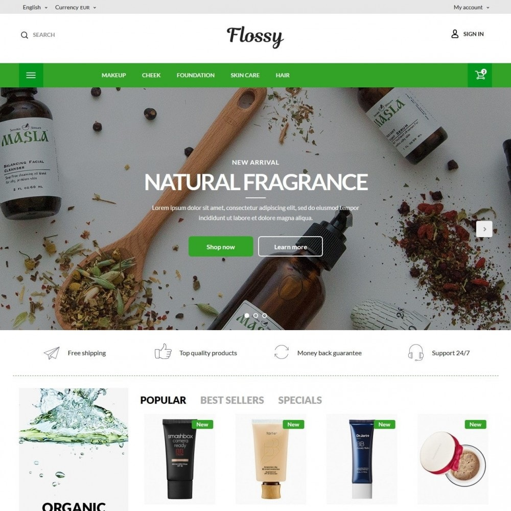 theme - Health & Beauty - Flossy Cosmetics - 2