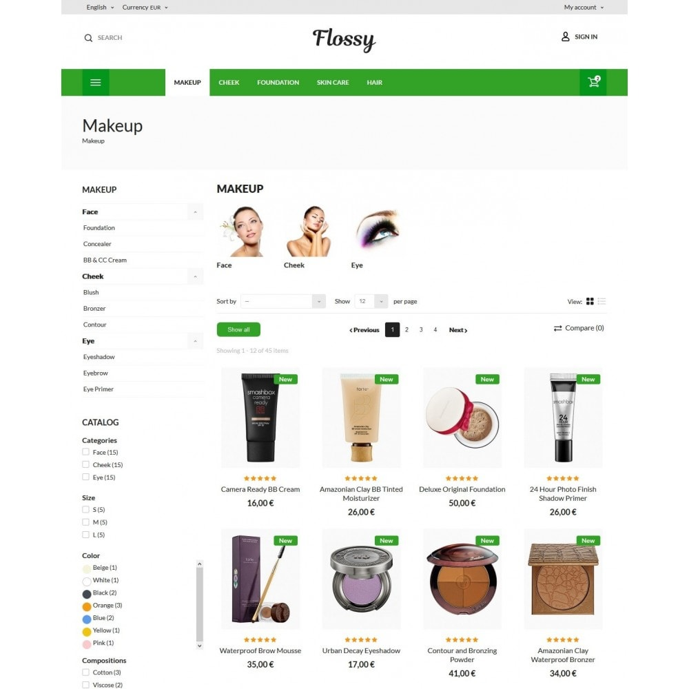 theme - Health & Beauty - Flossy Cosmetics - 6
