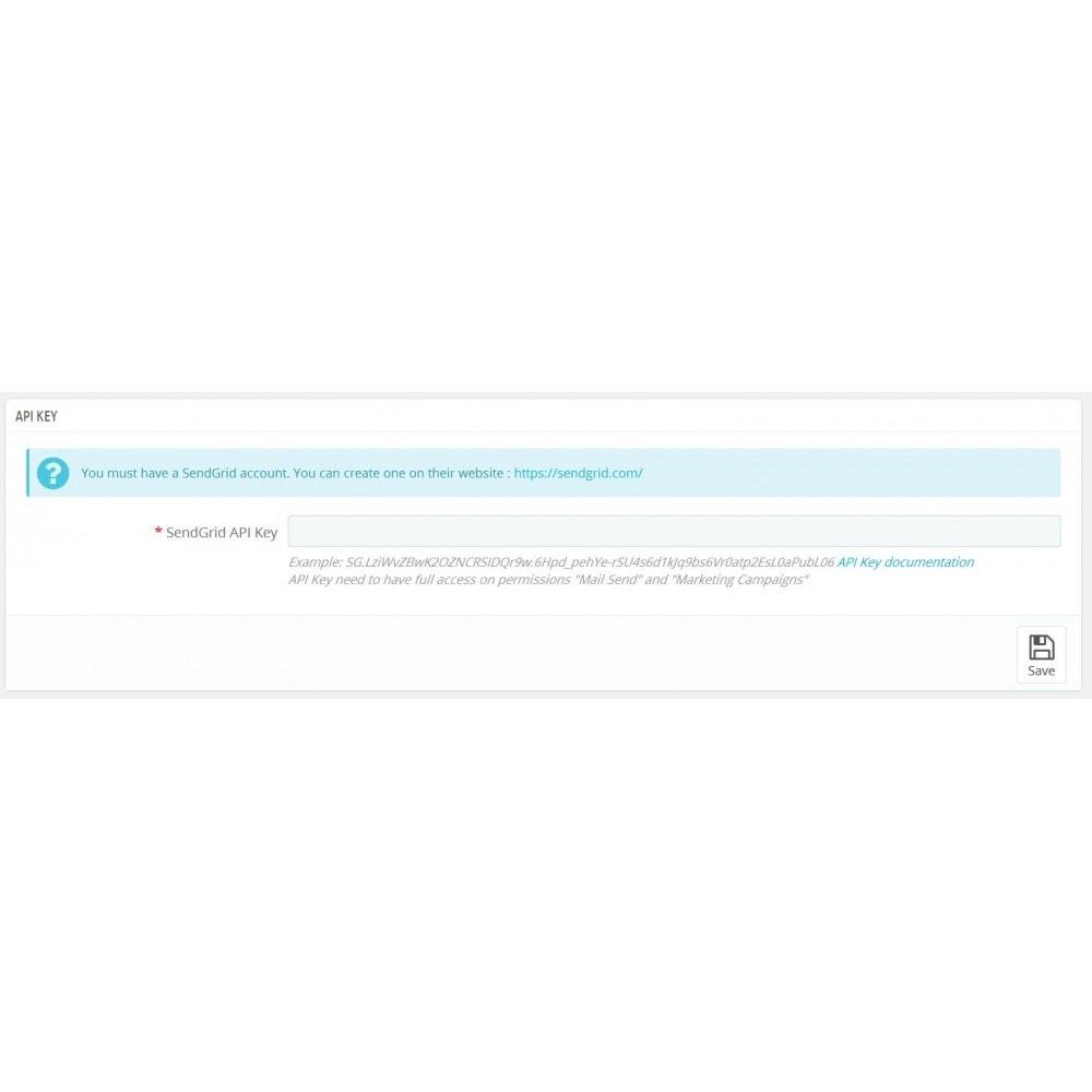 module - Newsletter y SMS - SendGrid SendSync - 2