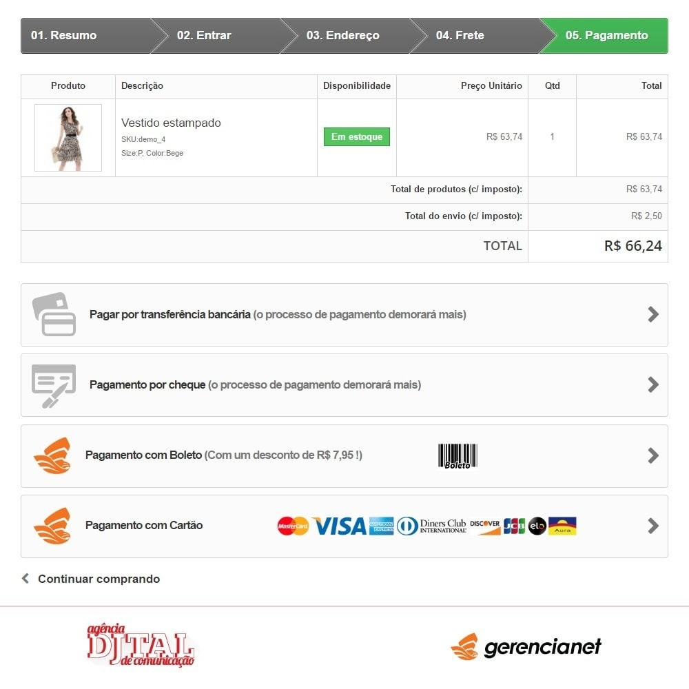 module - Payment by Card or Wallet - Brazilian payment via Gerencianet - 2