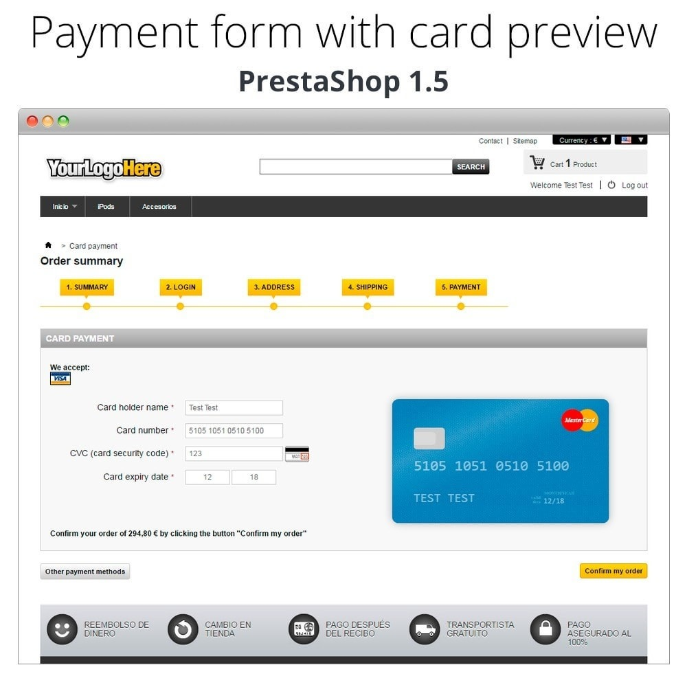module - Software de caixa (POS) - Manual Credit Card Processing - Offline payment - 26