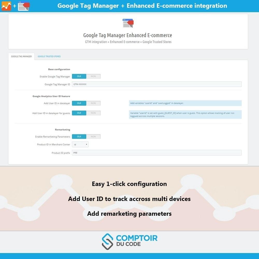module - Analyses & Statistiques - Google Tag Manager Enhanced Ecommerce (UA) - PRO - 2