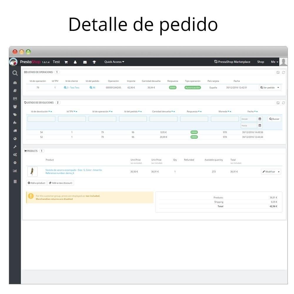 module - Pago con Tarjeta o Carteras digitales - Redsys pago integrado tarjeta y gestión de devoluciones - 6