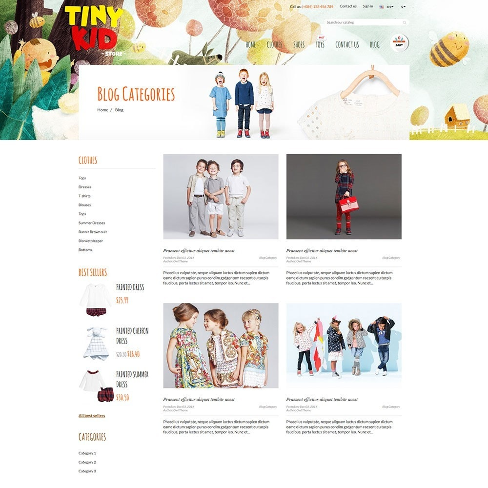theme - Enfants & Jouets - Tiny Kid - 6