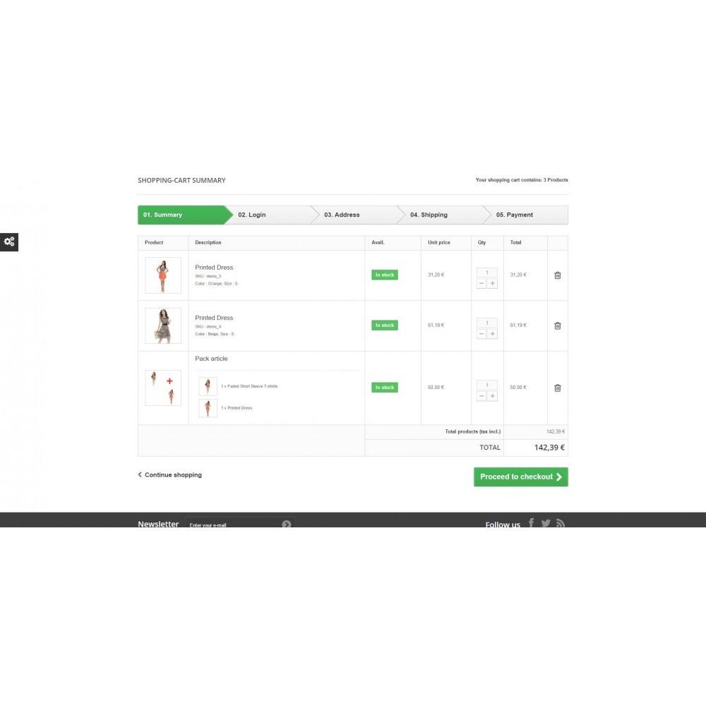 module - Anmeldung und Bestellvorgang - Article pack details in cart summary - 1