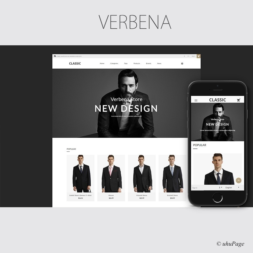theme - Mode & Schoenen - Verbena Suit Store - 1