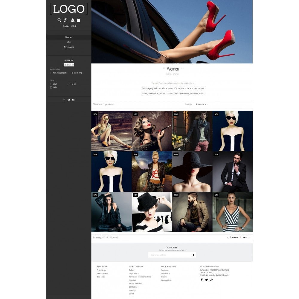 theme - Moda & Calzature - Alluring Contemporary Fullscreen - 2