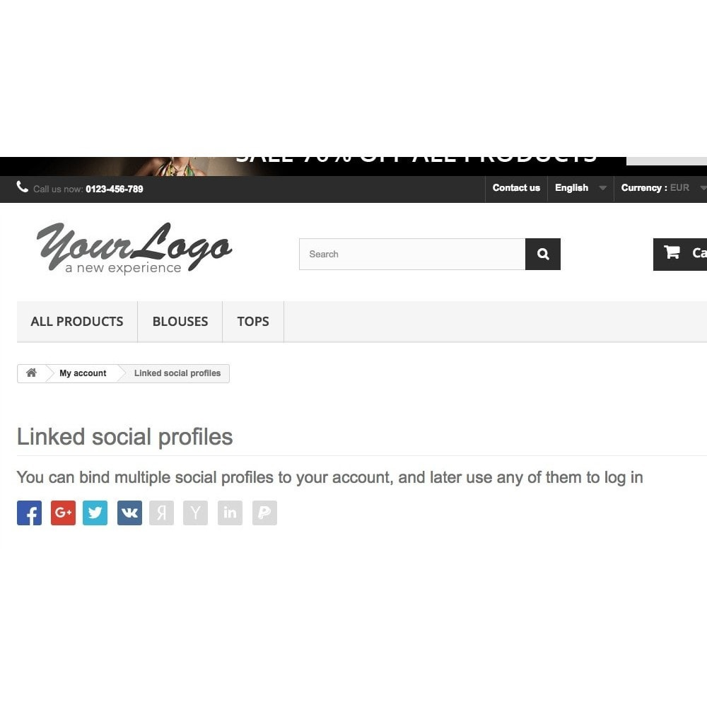 module - Login & Verbinden - Login using social profiles - 5