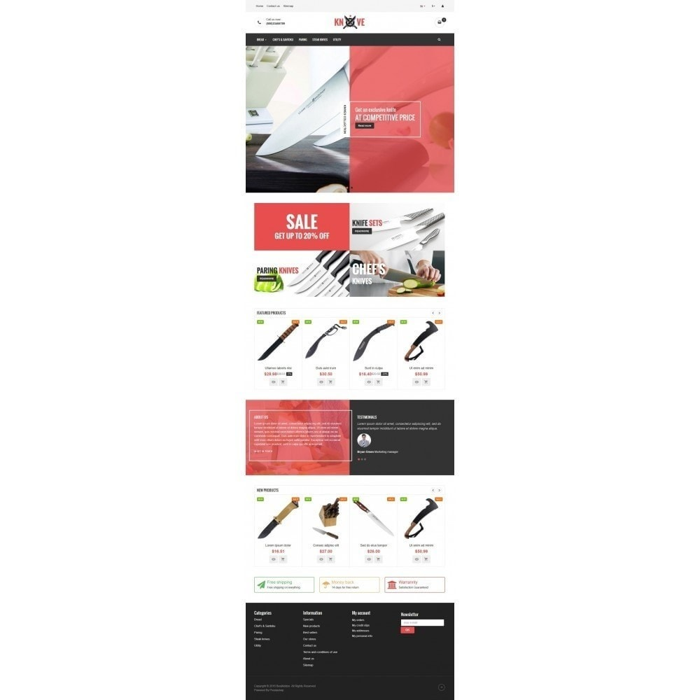 theme - Food & Restaurant - VP_Knives - Page Builder - 2