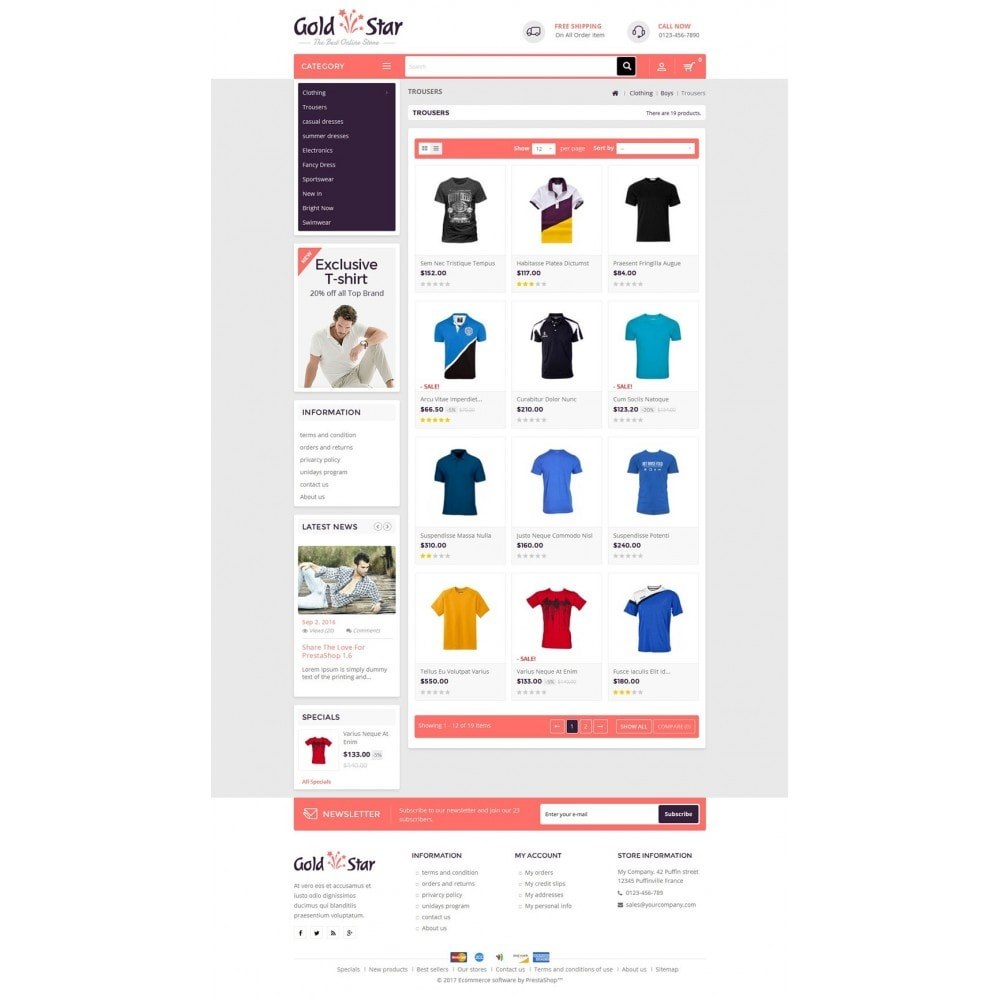theme - Moda & Calzature - Gold Star T-Shirt Store - 3