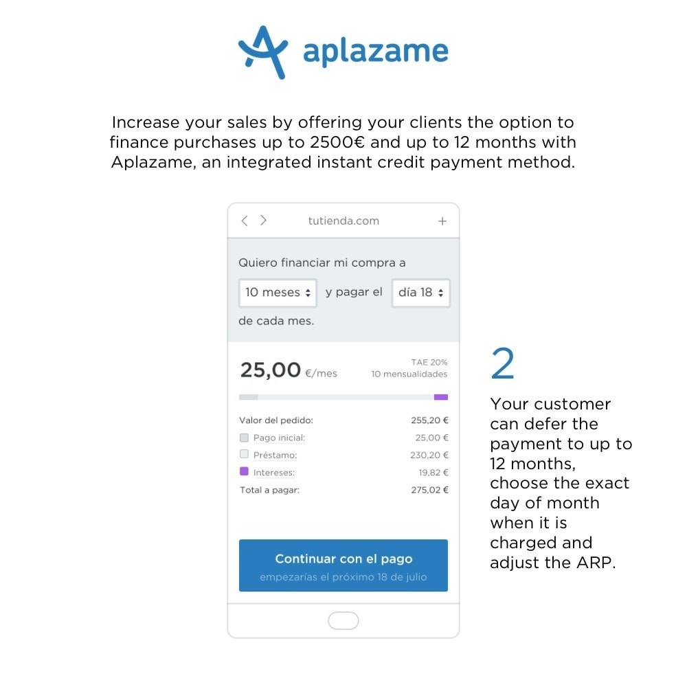 module - Other Payment Methods - Aplazame - 2