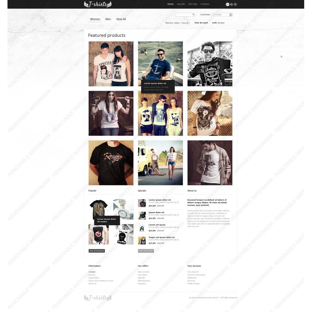 theme - Шаблоны PrestaShop - Grungy T-Shirts Online - 3