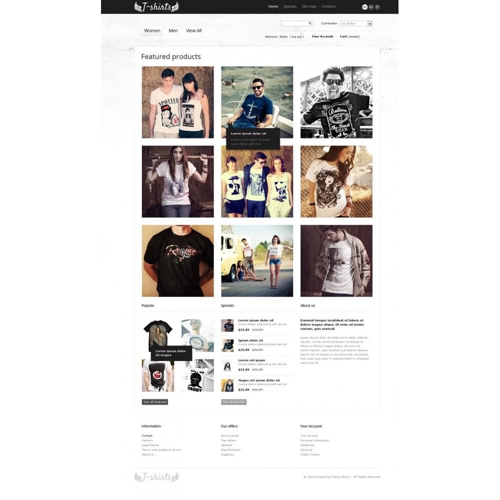 theme - Шаблоны PrestaShop - Grungy T-Shirts Online - 4