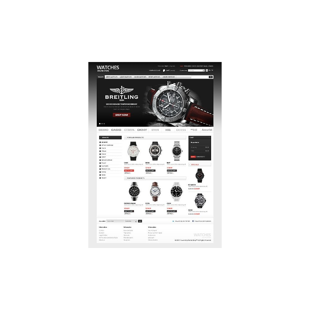 theme - PrestaShop Szablony - Watches Online - 1