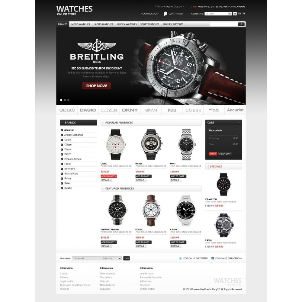 theme - PrestaShop Szablony - Watches Online - 4