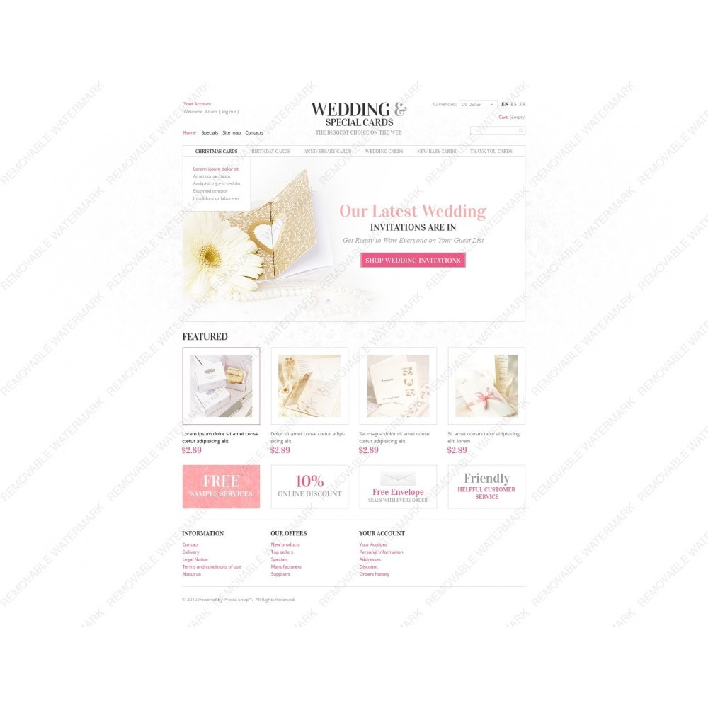 theme - Template PrestaShop - Wedding Invitations - 3