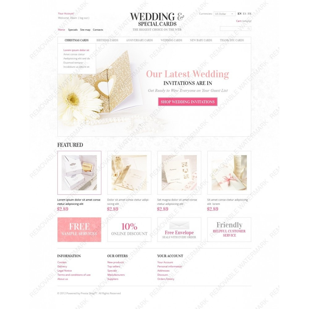 theme - Template PrestaShop - Wedding Invitations - 6