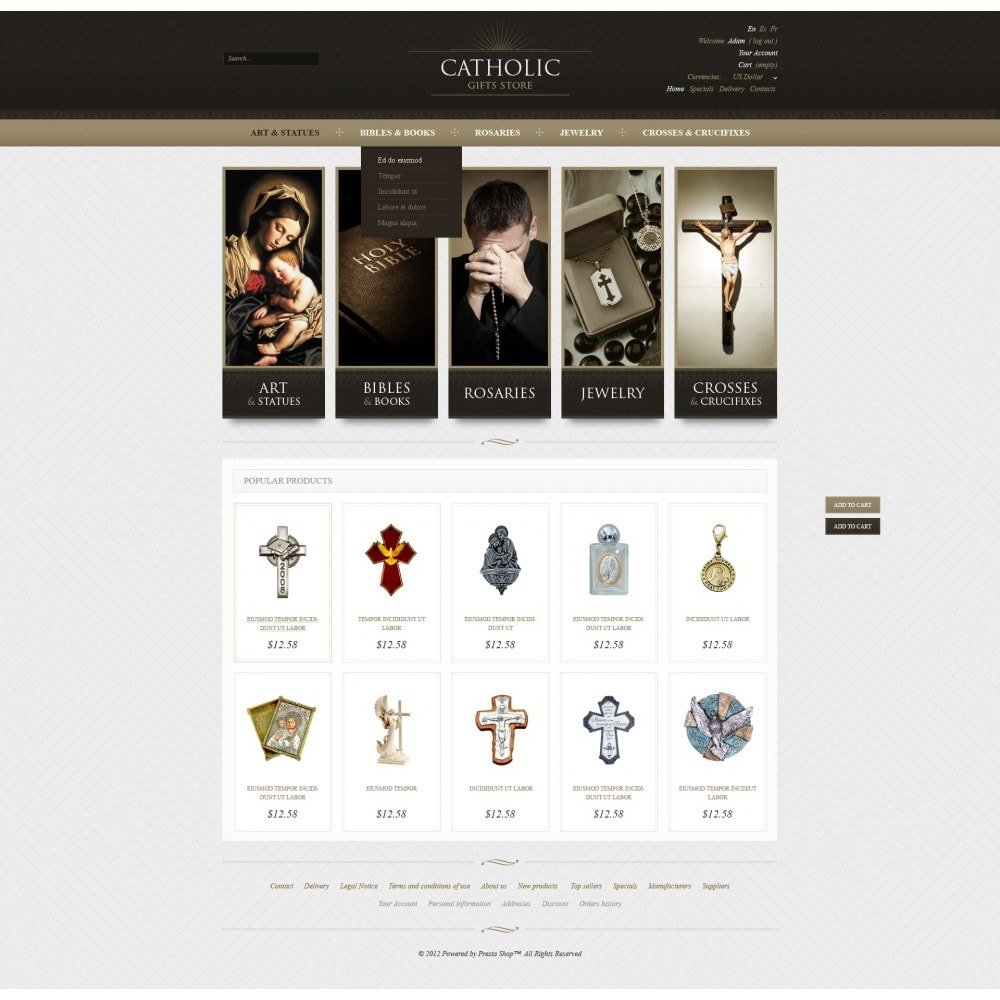 theme - PrestaShop thema's - Religious Gifts - 7