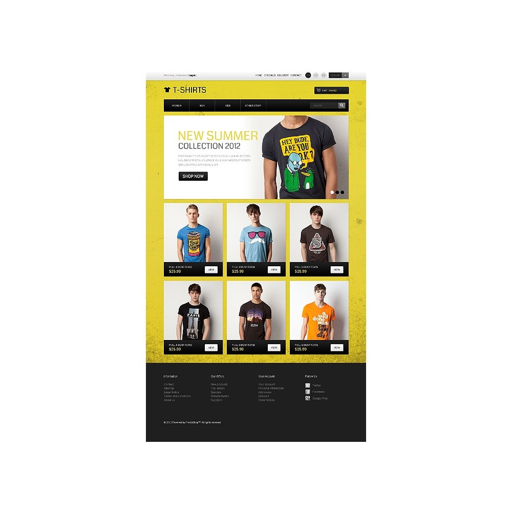 theme - PrestaShop Templates - Funny T-Shirts - 1
